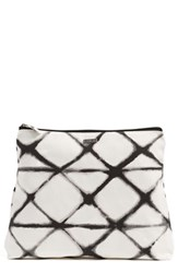 Rvca 'Zander' Print Cotton Canvas Pouch White White W Black