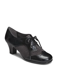 Aerosoles Aristocrat High Heel Oxfords Black Houndstooth