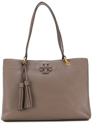 Tory Burch Three Compartment Mcgraw Tote Bag Brown