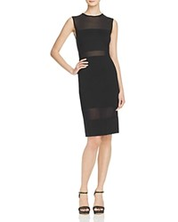 French Connection Mesh Inset Dress 100 Bloomingdale's Exclusive Black
