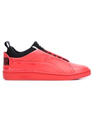 Puma Contrast Lace Up Sneakers Red
