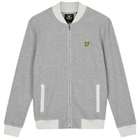 Lyle And Scott Pique Bomber Jacket Mid Grey Marl