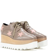 Stella Mccartney Star Print Platform Brogues Neutrals