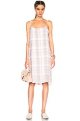 Jenni Kayne Cami Dress In Neutrals Checkered And Plaid