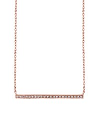 Sydney Evan Rose Gold And Diamond Long Bar Necklace Female