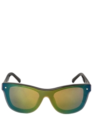 Linda Farrow X 3.1 Phillip Lim Mask Mirrored Sunglasses Black Green