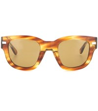Acne Studios Frame Metal Sunglasses Brown