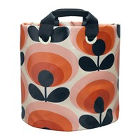 Orla Kiely 70S Flower Fabric Plant Bag Persimmon Large
