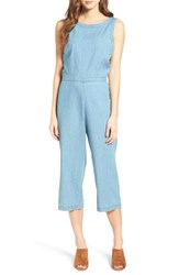 Cupcakes And Cashmere Women's Hoffman Crop Chambray Jumpsuit