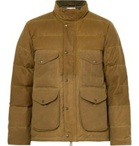 Filson Cruiser Quilted Water Repellent Cotton Canvas Down Jacket Tan