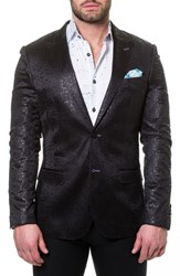 Maceoo Elegance Splatter Sport Coat Black