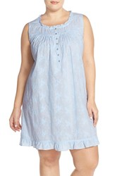 Plus Size Women's Eileen West Embroidered Cotton Nightgown