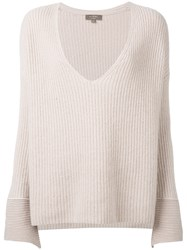 N.Peal Oversize Box Cable Jumper Nude Neutrals