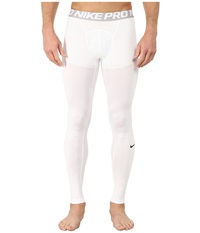 Nike Hypercool Compression Tights White Matte Silver Black Men's Workout