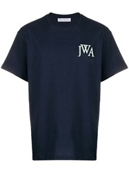 J.W.Anderson Jw Anderson Logo Embroidered T Shirt Blue