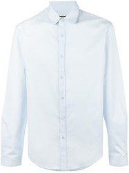 Gucci Rounded Collar Shirt Blue