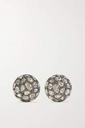 Fred Leighton Collection Sterling Silver Topped 18 Karat Gold Diamond Earrings