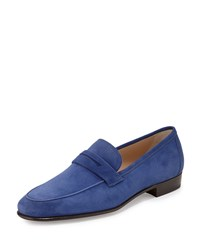 Gravati Suede Penny Loafer Royal Men's