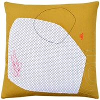 K Studio Cloudy Day Abstract Pillow Yellow