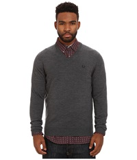 Fred Perry Classic V Neck Sweater Graphite Marl Men's Sweater Gray