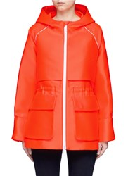 Emilio Pucci Drawstring Waist Hooded Parka Orange