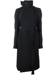 Rick Owens Double Breasted Coat Black