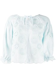 Innika Choo Floral Embroidered Smock Blouse 60