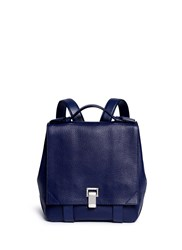 Proenza Schouler 'Courier' Small Pebbled Leather Backpack Blue