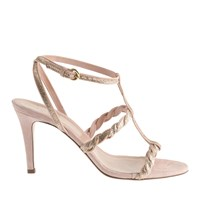J.Crew Collection Glynnis Glitter T Strap High Heel Sandals