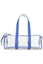 Simon Miller Toolkit Small Leather Trimmed Pvc Tote Blue
