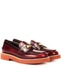 Miu Miu Leather Penny Loafers Brown