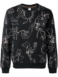Paul Smith Floral Embroidery Sweatshirt Black
