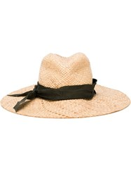 Lola Hats Adjustable Panama Hat Nude And Neutrals