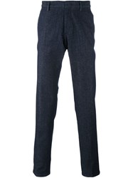 Z Zegna Tapered Denim Trousers Blue