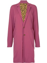 Hysteric Glamour Oversize Single Breasted Coat Pink And Purple
