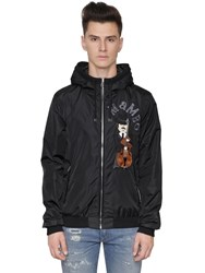 Dolce And Gabbana Musician Patch Nylon Bomber Jacket