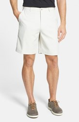Men's Big And Tall Peter Millar 'Salem' Flat Front Performance Shorts Stone