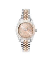 Trussardi Silver And Rose Gold Stainless Steel Women'w Watch