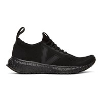 Rick Owens Black Veja Edition Low Sock Sneakers