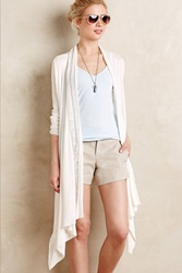 Ella Moss Pointelle Colonnade Cardigan White