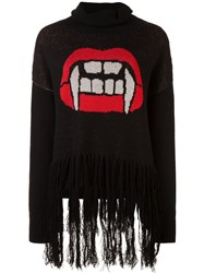 Haculla Caught Up Fringed Sweater Black