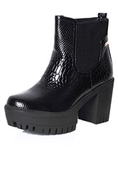 Alice And You Contrast Platform Boot Black