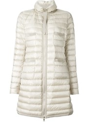 Moncler Classic Padded Coat Nude And Neutrals