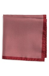 Eton Men's Dot Silk Pocket Square Red