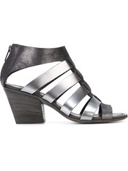 Pantanetti Strappy Chunky Heel Sandals Black