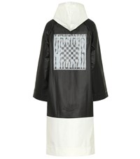 Proenza Schouler Pswl Printed Raincoat Black