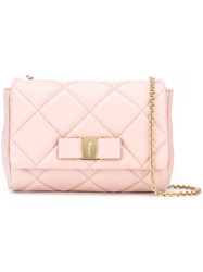 Salvatore Ferragamo Quilted Crossbody Bag Pink And Purple