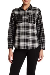 French Connection Lakeside Check Long Sleeve Shirt Black