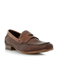 Bertie Retro Slip On Casual Loafers Brown