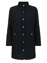 Eastex Long Funnel Neck Raincoat Navy